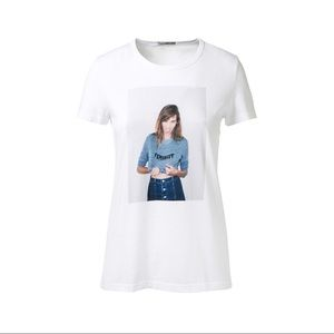 Alexa Chung for AG Feminist t shirt S
